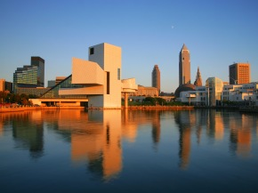 downtown_cleveland_at_sunset__ohio